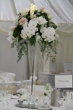 """Flower Design Events: Crystal Candlestick table designs in """"Nude & Ivory"""" Shades  The Inn at Whitewell"""