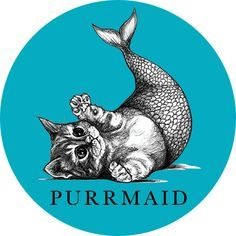 purrmaid -----couldn't decide whether to pin this under cats, fantasy, or illustrations, but it's just so darn cute it'll have to be cats. Animal Art, Illustration, Cat Art, Mermaid, Mermaid Life, Art, Mermaid Art