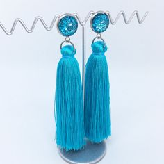 Light Blue tassel earrings - $20AUD - allure style