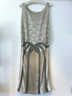 1920s silver dress. From Pennies Vintage.