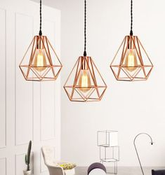 Tiny Triangle Necklace- Gold Triangle Necklace/ Small Triangle Necklace/Floating Triangle/ Layering Necklace/Triangle Charm/ Bridesmaid Gift - Fine Jewelry Ideas LEIKA Geometric Pendant Lamp in Rose Gold Lights&Co Geometric Lamp, Pendant Ceiling Lamp, Kitchen Ceiling Lights Modern, Rose Gold Kitchen, Geometric Pendant Lamps, Rose Gold Lights, Gold Light Fixture, Gold Pendant Lighting, Rose Gold Lamp