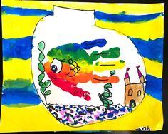 smART Class: Art to Remember Peacocks, Zentangle Animals, Trees, Hand Print Fish Kindergarten Art Lessons, Art Lessons Elementary, Hand Print Animals, Hand Print Fish, Fish Handprint, Under The Sea Animals, Diy Xmas, Zentangle, Underwater Theme