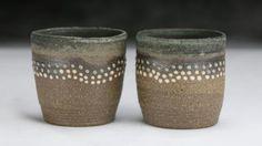 Shoreline cups s/2; Cerise de Terre Ceramics Cups, Vase, Ceramics, Decor, Cherry, Ceramica, Mugs, Pottery, Decoration