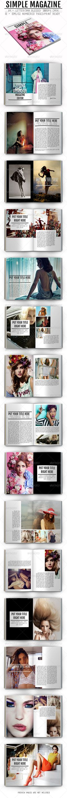 Simple Magazine #magazine #template #simple #layout #indesign #idml #graphicriver