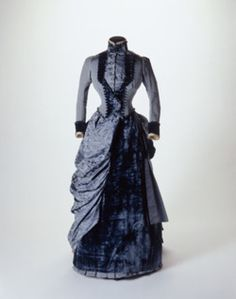 1884 Blue Museum of London gown