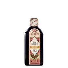 Tłoczony z nasion konopi siewnej olej konopny to doskonały dodatek do sałatek, surówek, past warzywnych etc. Jack Daniels Whiskey, Sauce Bottle, Whiskey Bottle, Drinks, Omega, Drinking, Beverages, Drink, Beverage