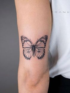Incredibly Beautiful Collection Of 100 Butterfly Tattoos That You'd Want To Get Right Now - Many people go for striking designs and even inked skulls on their skin, whereas multiple tattoo co - Dainty Tattoos, Mini Tattoos, Leg Tattoos, Cool Tattoos, Body Art Tattoos, Tatoos, Rebellen Tattoo, Piercing Tattoo, Piercings
