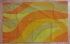 Design: The pillowcase has an abstract design in orange, yellow and white. No Iron Percale. Orange Yellow, 1960s, Pillow Cases, Oc, Pillows, Cool Stuff, Retro, Abstract, Painting