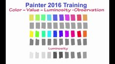 Painter 2016 Training - Color, Value, Luminosity - By Winifred Whitfield