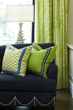 Greens and Navys...love these colors for one of the boy's rooms