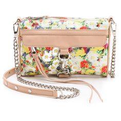 Rebecca Minkoff Floral Mini MAC Bag ($195) ❤ liked on Polyvore