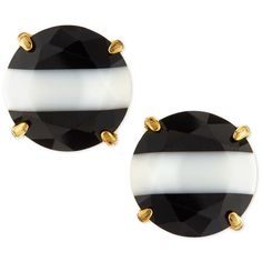 kate spade new york the right stripe stud earrings (€47) ❤ liked on Polyvore featuring jewelry, earrings, multi colors, multi color stud earrings, colorful stud earrings, crystal stud earrings, kate spade jewelry and kate spade