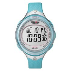 The best party is a healthy party!  Women's Timex Ironman 30 Lap Watch - Blue