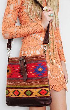 Messenger Bag & Crochet Dress #EllaBellaBee9