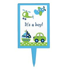 Shop Boys Transportation Cake Topper Cupcake Topper created by PoshPartyPrints. Planes Party, Cake Picks, Personalized Cake Toppers, Cake Toppings, Baby Shower Parties, Cupcake Toppers, Safe Food, Printing Process, Your Favorite