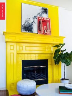 Before & After: A Just Fine Fireplace Shifts Into Spring | Apartment Therapy