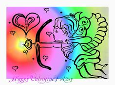 Happy Valentine's Day Cupid 4 Canvas Print / Canvas Art by Alex Art Canvas Art Prints, Fine Art Prints, Art Base, Pillow Sale, Sale Poster, Cupid, Happy Valentines Day, Fine Art America, Greeting Cards