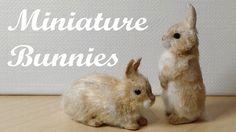 Miniature Bunnies / Rabbits - Polymer Clay Tutorial