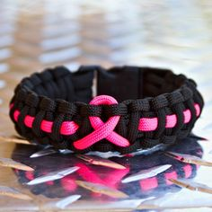 Men's Breast Cancer Awareness Bracelet