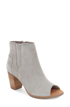 TOMS 'Majorca' Peep Toe Bootie (Women) available at #Nordstrom