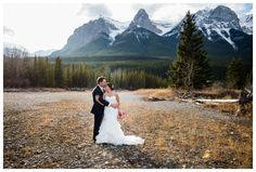 Bride & Groom Wedding Photography Canmore, Rocky Mountain Wedding Photos