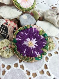 Handmade purple flower by Sujstory on Etsy