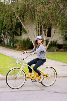 Retro Bike  it's Yellow...Yup Please!