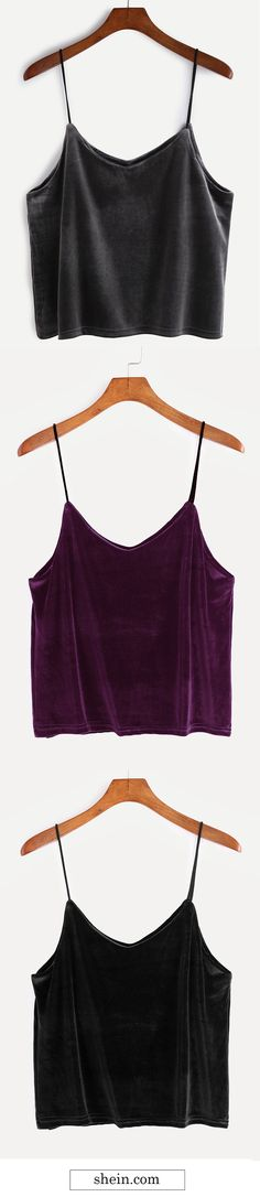 Trendy Velvet Cami Top.