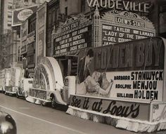 Times Square 1939 Movie Floats