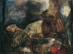 Oskar Kokoschka – Stillleben mit Hammel und Hyazinthe, 1910, Öl auf Leinwand, 87 x 114 cm, Belvedere, Wien, Inv.-Nr. 2358