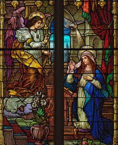 The Annunciation, Saint Bernard Roman Catholic Church, in Albers, Illinois, USA
