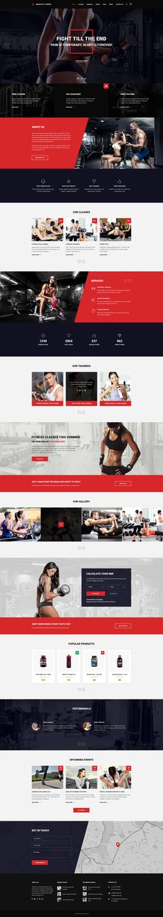 Absolute Fitness - PSD Template #web design #gym #responsive • Download ➝ https://themeforest.net/item/absolute-fitness-psd-template/18599187?ref=pxcr
