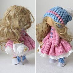 Patrón gratis de esta bonita muñeca rusa.
