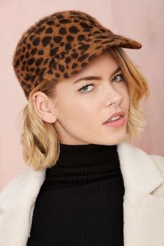 Hat Attack Angora Baseball Cap - Leopard | Shop What's New at Nasty Gal