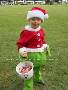The Grinch that Stole Halloween Costume Idea for a Child | Coolest Homemade Costumes | Pinterest | Grinch Halloween costumes and Costumes  sc 1 st  Pinterest & The Grinch that Stole Halloween Costume Idea for a Child | Coolest ...