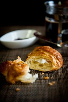 Croissant Recipe    Makes 20 croissants     1 tablespoon active dry yeast  7 tablespoons whole milk (68′F)  2 cups all-purpose flour  1 tablespoon fleur de sel  6 tablespoons superfine sugar  2 1/4 tablespoons unsalted butter, very soft  1 tablespoon dry milk powder  1/2 cup mineral water (68′F)  3 sticks (12 ounces) French butter  1 large egg yolk  1 whole egg  dash of fine sea salt