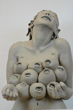 "Ronit Baranga ""My Artemis"" Weird Art, Creepy Art, Divine Feminine, Artemis, Sculpture Clay, Sculptures, Installation Art, Bizarre, Ceramic Art"