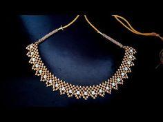 পুতির নেকলেস/beaded necklace tutorial for brides/how to make pearl necklace - YouTube