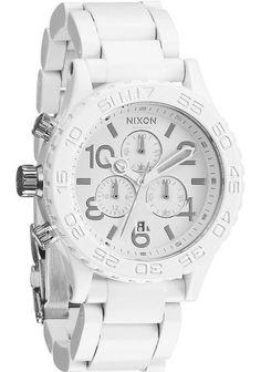 Nixon 42-20 Chrono All White/Silver