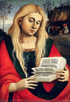 Saint Mary Magdalene, fragment (c.1522-1524). Workshop of Luca Signorelli (Italian, c.1445-1523). Oil on panel transferred to canvas.