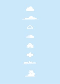 Famous Clouds Art Print  iCloud, Simpsons opening sequence, BBC weather, Soundcloud, Mario, Snoopy, Flintstones, Toy Story