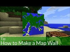Tip: How to Make a Map Wall in Minecraft