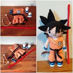 Onda vital xaaaa!! #amigurumi #songoku #goku #dragonball #anime #ganchillo #crochet