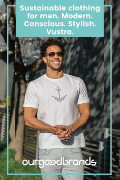 Sustainable clothing for men. Modern. Conscious. Stylish. Vustra. Eco Clothing, Made Clothing, Sustainable Clothing, Just For Men, Organic Cotton T Shirts, Fashion Labels, Modern Man, Men Looks, Fast Fashion