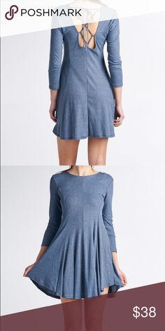 Lace Up Back Skater Dress A lace-up back and classically chic silhouette make this dress a must-have for eye-catching desk-to-dinner looks. * Size S: 23.75'' long from high point of shoulder to hem * Knit * 96% polyester / 4% spandex Dresses