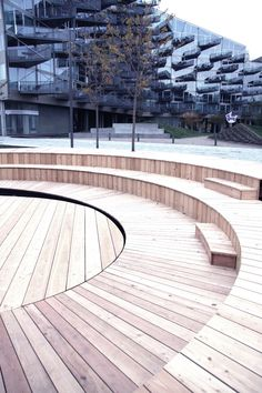 PAM - houten tribune - The Islands in Ørestad, Copenhagen
