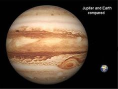 Jupiter and Earth Comparison