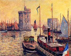 Maxime Maufra The Port of La Rochelle at Twilight, 1911, oil on canvas, private collection. Maxime Maufra was a French landscape and marine painter, etcher and lithographer. In his paintings, Maufra sometimes quoted the technique of Pissarro or...