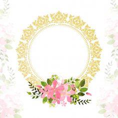 Doodle Frames, Frame Floral, Flower Frame, Islamic Art Pattern, Pattern Art, Molduras Vintage, Field Wallpaper, Simple Background Images, Diy Birthday Banner