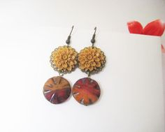 Fall Inspired: Rustic statement earrings $18.50